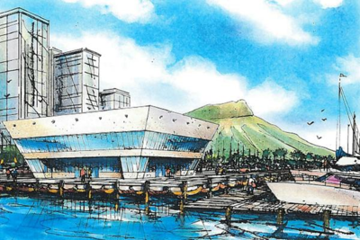 Courtesy Honey Bee USA The rendering shows the Waikiki Landing project, with Diamond Head in the background.